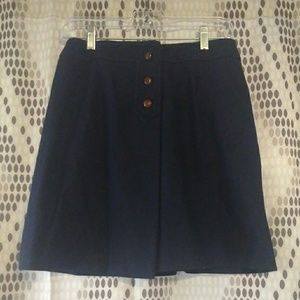 Vintage navy button wrap skirt